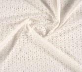 Algodon troquelado blanco