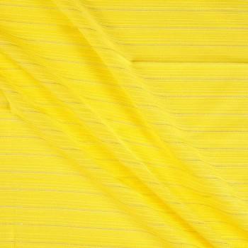 Jacquard rayas lame amarillo