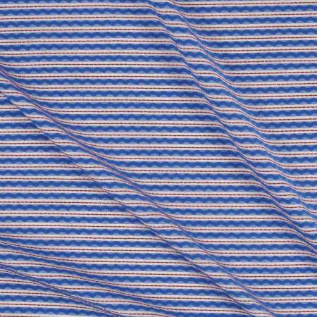 Jacquard rayas azul