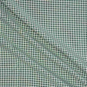 Jacquard pie de poule verde menta