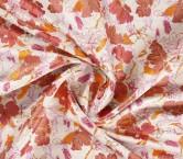 Jacquard flor lame salmon rosa