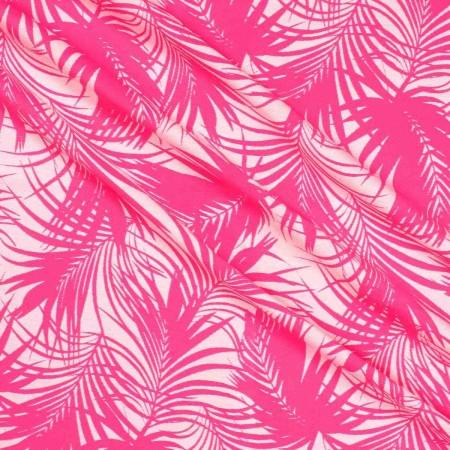 Jacquard hojas rosa