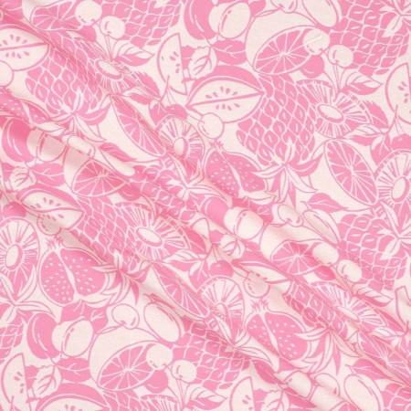 Jacquard tropical rosa