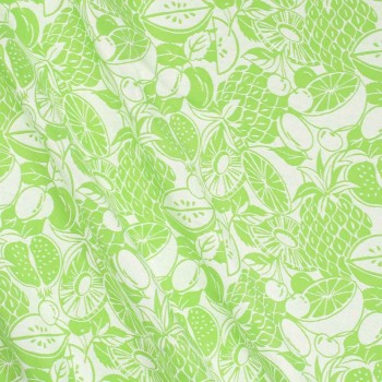 Jacquard tropical verde