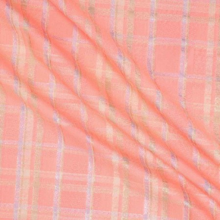 Acid pink jacquard cuadro lame