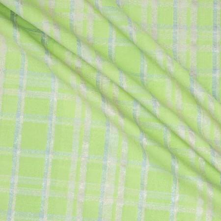 Jacquard cuadro lame verde