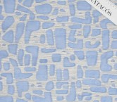 Jacquard organza azul