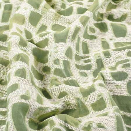 Jacquard organza verde