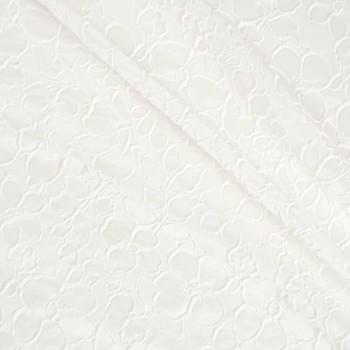 Jacquard flor blanco