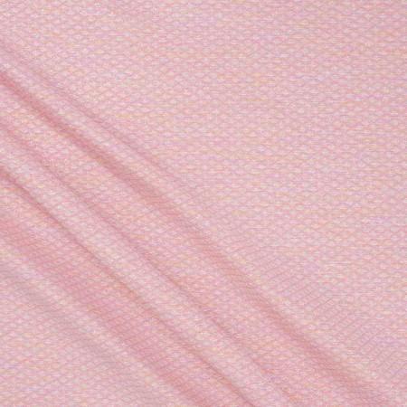 Jacquard lame rombos rosa