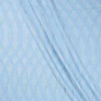 Jacquard lame azul