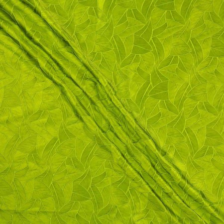 Jacquard hojas verde