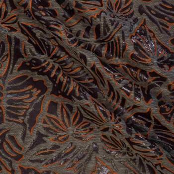 Jacquard hojas naranja