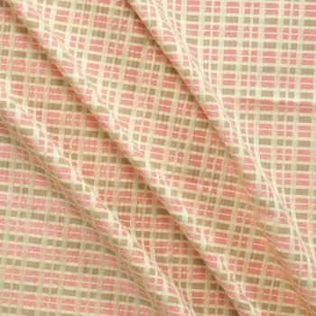 Jacquard cuadros rosa ocre