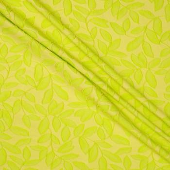Jacquard hojas lima amarillo