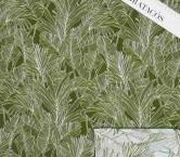 Jacquard hojas  verde kaki