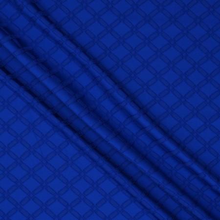 Jacquard geometrico azul