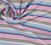 Jacquard rayas rosa azul