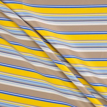 Jacquard rayas azul amarillo marron