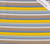 Blue yellow brown jacquard ray