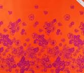Jacquard flor pano 105cm coral violeta