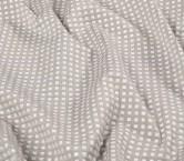 Jacquard cuadros lame gris