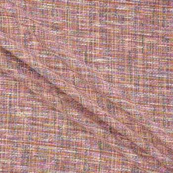 Jacquard tweed rosa