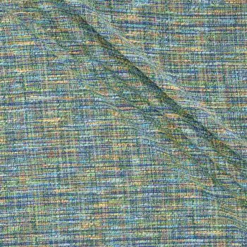 Turquoise green jacquard tweed