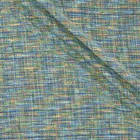 Jacquard tweed verde turquesa