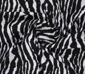 Jacquard cebra blanco negro