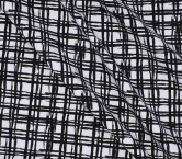 Jacquard cuadros blanco negro