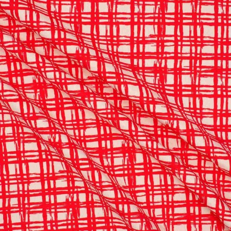 Jacquard cuadros rojo