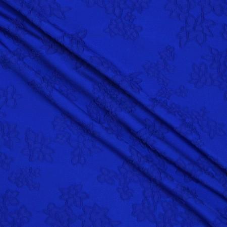 Jacquard flor azul