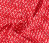 Jacquard ondas rojo