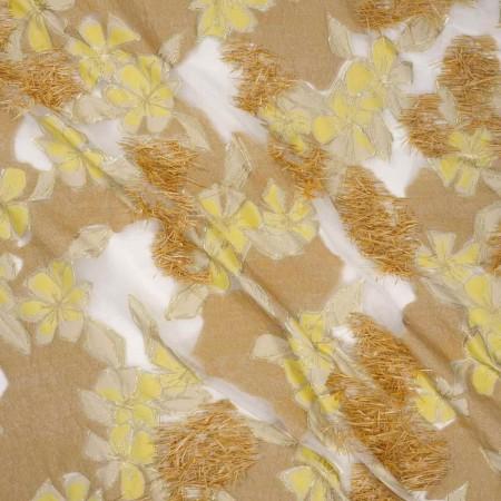 Jacquard flor lame fantasia amarillo