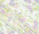 Jacquard flor lame lavanda coral lila