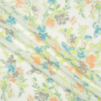 Jacquard flor lame verde turquesa