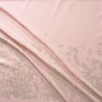 Jacquard lame pano 162 cm rosa