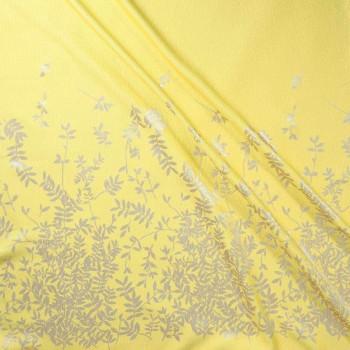 Jacquard lame pano 162 cm amarillo