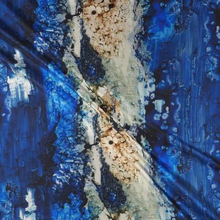 Mikado estampado azul