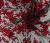 Bordado fantasia flor rojo
