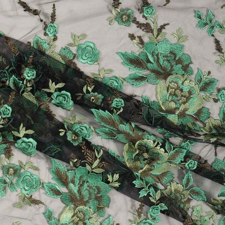Herb green bordado fantasia fl