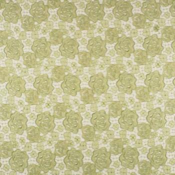Bordado  paillette transparente verde hierba