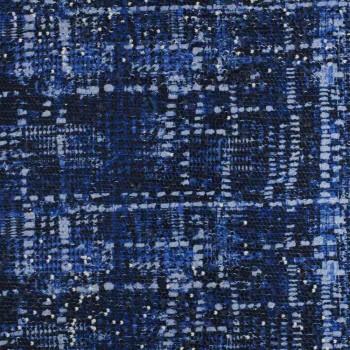 Bleu klein paillete estampada