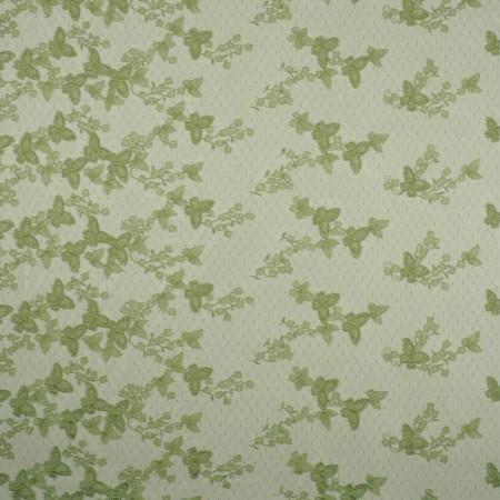 Green bordado mariposa