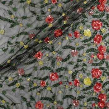Flor paillette multicolor