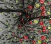 Multicolor flor paillette