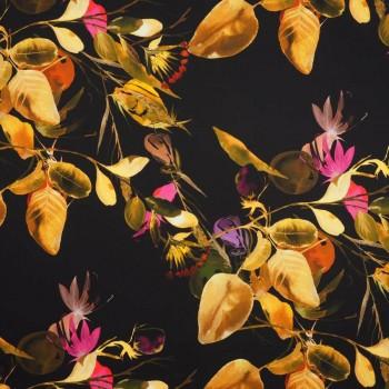 CrÊpe estampado hojas marrÓn