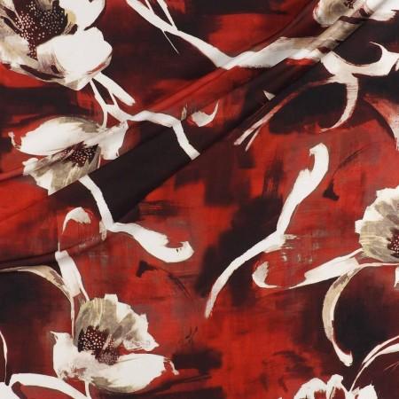 CrÊpe estampado flor teja