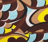 Brown turquoise estamp. geomet